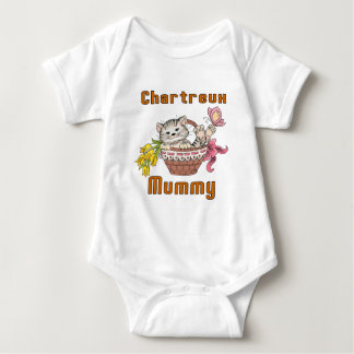 Chartreux Cat Mom Baby Bodysuit