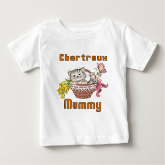 Chartreux Cat Mom Baby T-Shirt