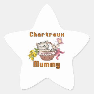 Chartreux Cat Mom Star Sticker