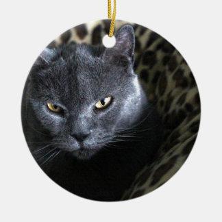Chartreux  (karthuizer) ceramic ornament