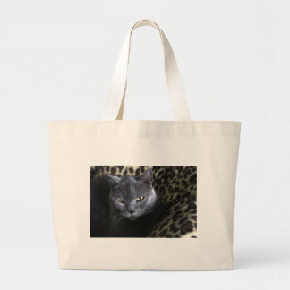 Chartreux  (karthuizer) large tote bag