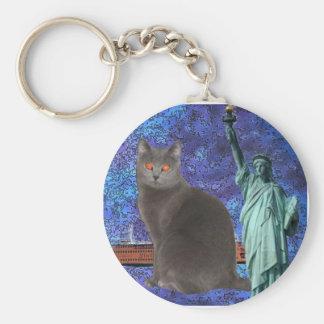 Chartreux NYC Keychain
