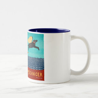 chase away k9 cancer-Mug-Stephen Huneck Two-Tone Coffee Mug