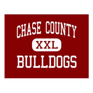 Chase County - Bulldogs - High - Cottonwood Falls Postcard