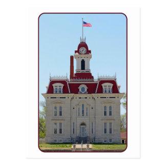 Chase County, Kansas, Courthouse Postcard