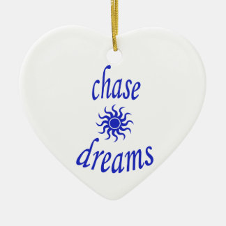 Chase Dreams Ceramic Heart Ornament