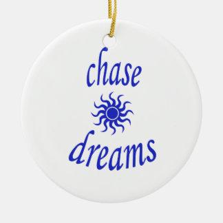 Chase Dreams Round Ceramic Ornament