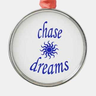 Chase Dreams Silver-Colored Round Ornament