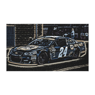 Chase Elliot in Neon Canvas Print