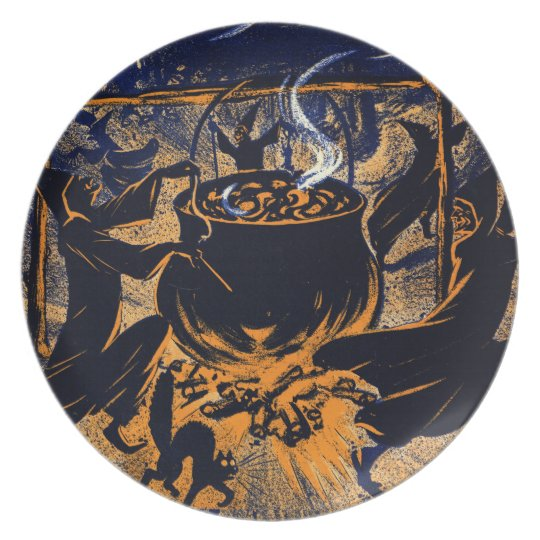 Chase of the Witches Melamine Plate