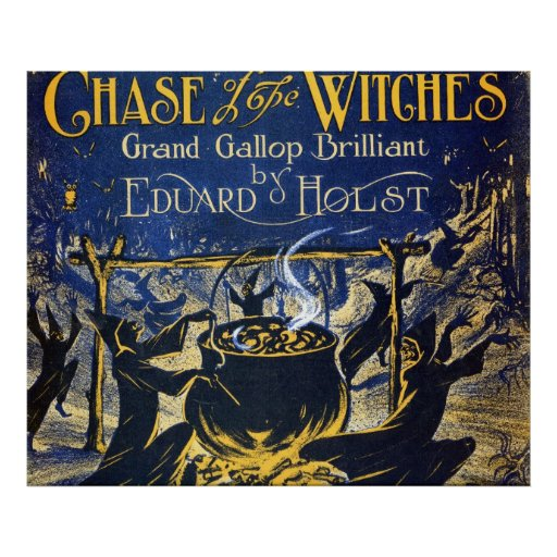 Chase of the Witches Print