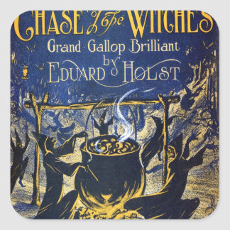 Chase of the Witches Square Sticker