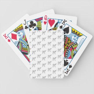 Chasin' Unicorns Geometric Crystal Unicorn Pattern Bicycle Playing Cards