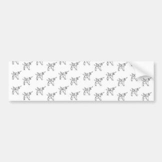 Chasin' Unicorns Geometric Crystal Unicorn Pattern Bumper Sticker