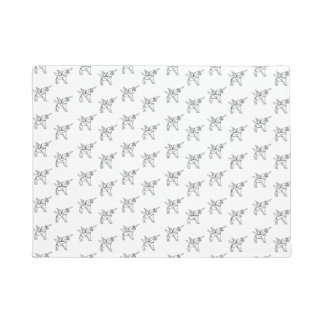Chasin' Unicorns Geometric Crystal Unicorn Pattern Doormat