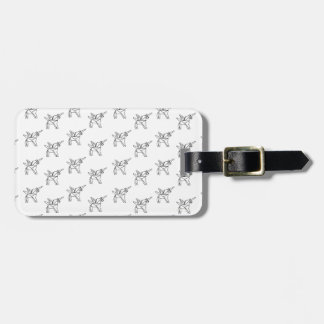 Chasin' Unicorns Geometric Crystal Unicorn Pattern Luggage Tag