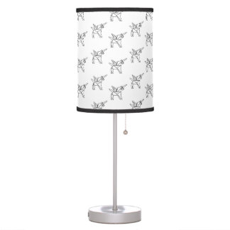Chasin' Unicorns Geometric Crystal Unicorn Pattern Table Lamp