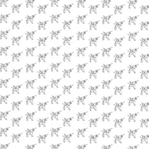 3c2e7a07f03 Chasin  Unicorns Geometric Crystal Unicorn Pattern Throw Pillow