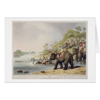 "Chasing a Tiger across a River, from ""Oriental Fie Card"