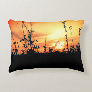 Chasing sunsets decorative pillow