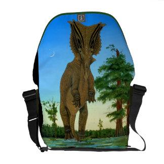 Chasmosaurus Dinosaur Messenger Bag Greg Paul