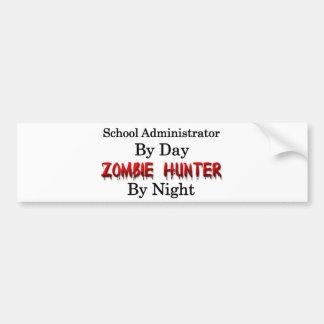 Chasseur d'administrateur scolaire/zombi autocollant de voiture