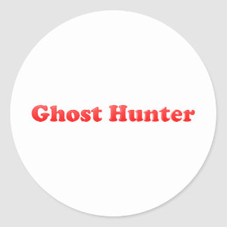 Chasseur de fantôme sticker rond