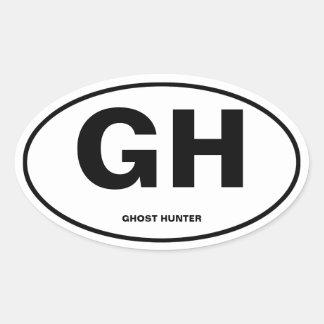 Chasseur de fantôme sticker ovale