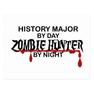 Chasseur principal de zombi d'histoire carte postale