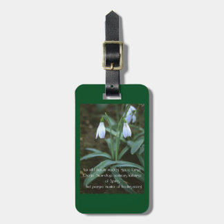Chaste Snowdrop Luggage Tag