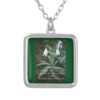 Chaste Snowdrop Silver Plated Necklace