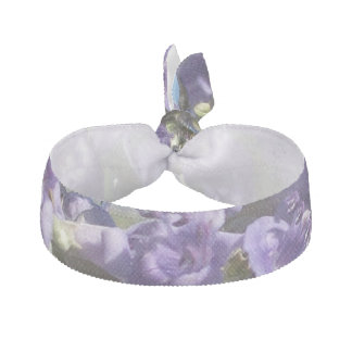 Chaste Tree Purple Flowers Ribbon Hair Tie
