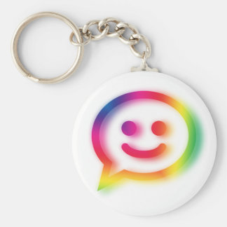 Chat Chat Chat Basic Round Button Keychain