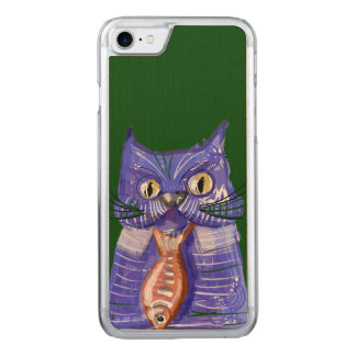 Chat d'affaires coque carved pour iPhone 7