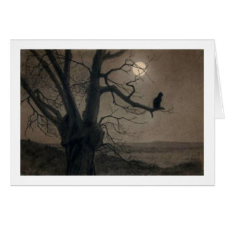 Chat dans le clair de lune, Alexandre Steinlen Carte De Vœux