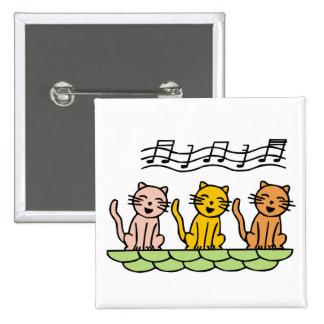 Chat de chant macaron carré 5 cm