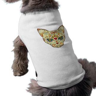 Chat de crâne de sucre - conception de tatouage manteau pour toutous