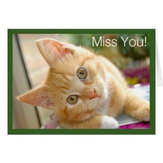 Chat de Kitty - Mlle You Card de chaton Carte De Vœux