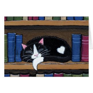 Chat de l'amour | de livre dormant sur la carte de