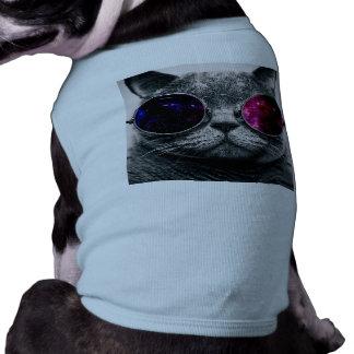 chat de lunettes de soleil t-shirts pour animaux domestiques