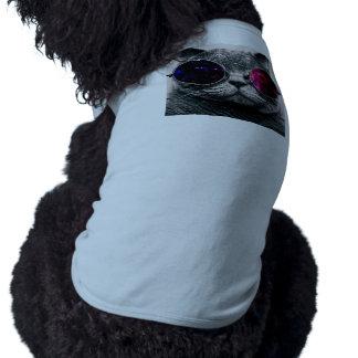 chat de lunettes de soleil tee-shirts pour toutous