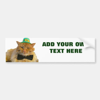 Chat de lutin avec votre texte autocollant de voiture