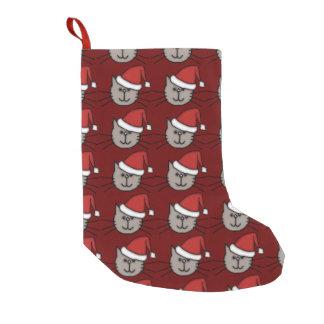 Chat de Père Noël Petite Chaussette De Noël