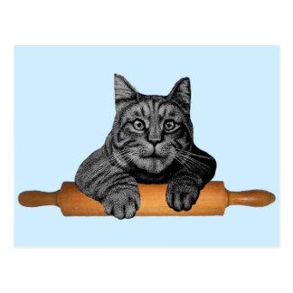 chat drôle de boulanger de purrfect cartes postales