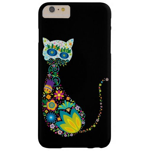 Chat floral coloré coque iPhone 6 plus barely there