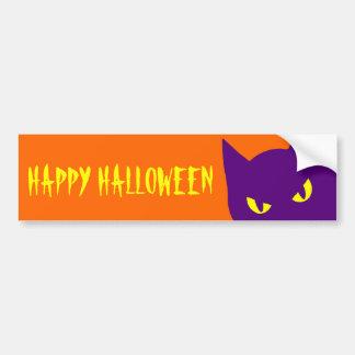 Chat heureux éffrayant de Halloween Kitty effrayan Autocollant De Voiture