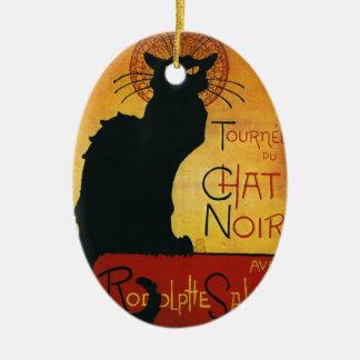 Chat Noir - Black Cat Ceramic Ornament