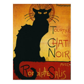 Chat Noir - Black Cat Postcard