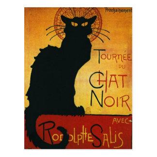 Chat Noir - Black Cat Postcard