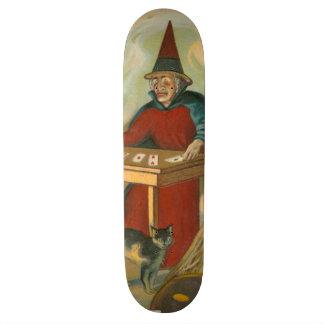 Chat noir de tarot de sorcière skateboards personnalisés